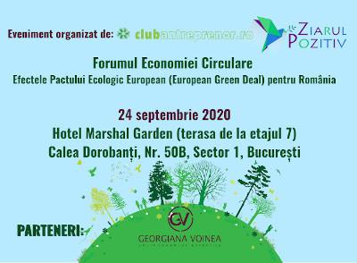 EVENIMENT 24 septembrie 2020 Forumul-Economiei-Circulare